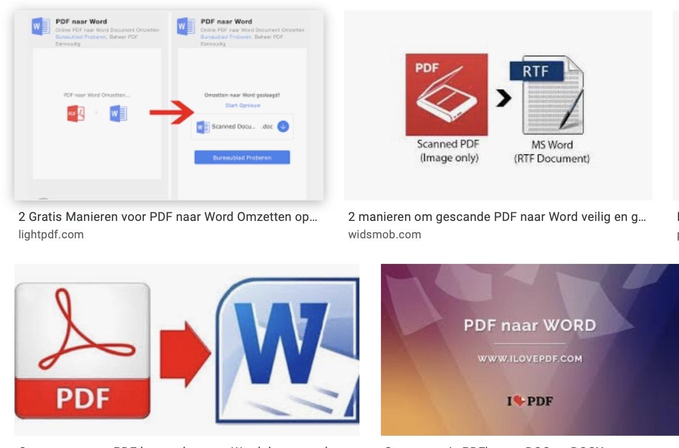 converteer je simpel en snel PDF naar Word